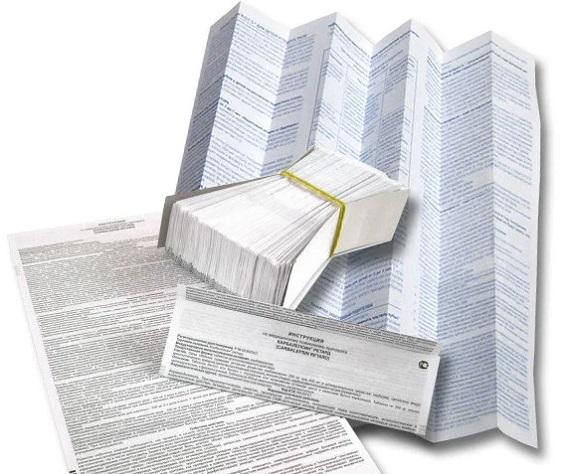 Печать инструкций для товаров