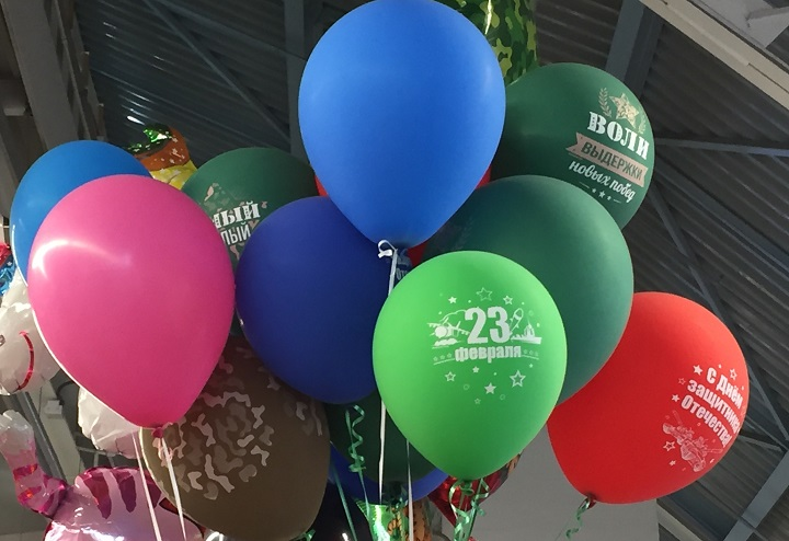 Корпоративные шары с логотипом бренда