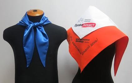 Корпоративный платок с логотипом компании