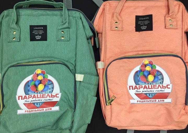 Нанесение логотипа и эмблемы на рюкзак