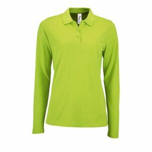 Рубашка поло женская с длинным рукавом PERFECT LSL WOMEN, зеленое яблоко