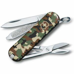 Нож перочинный Classic 58, зеленый камуфляж