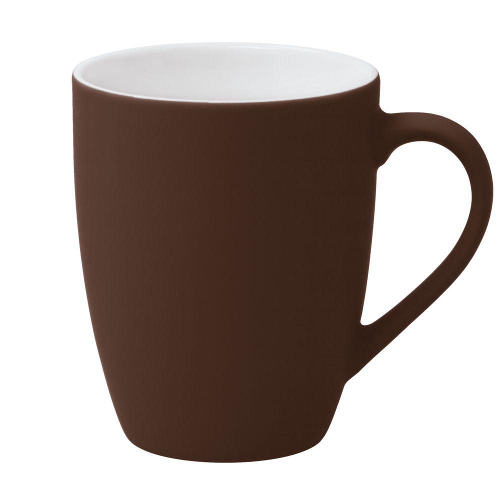 Кружка Best Morning c покрытием софт-тач, коричневая