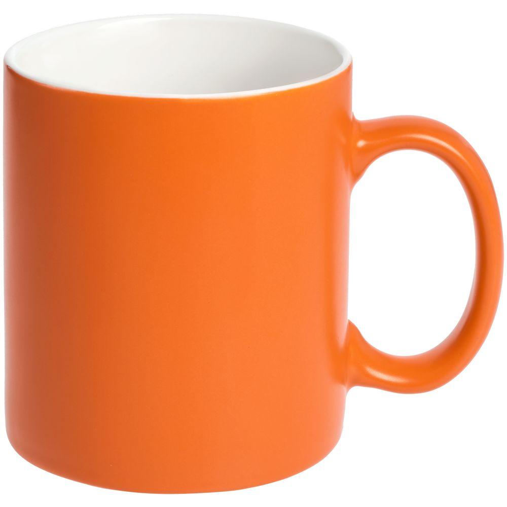 Кружка Promo матовая, оранжевая