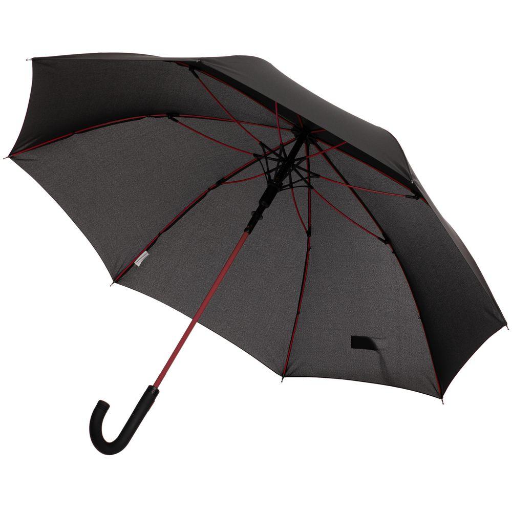 Зонт-трость с цветными спицами Color Power, красный