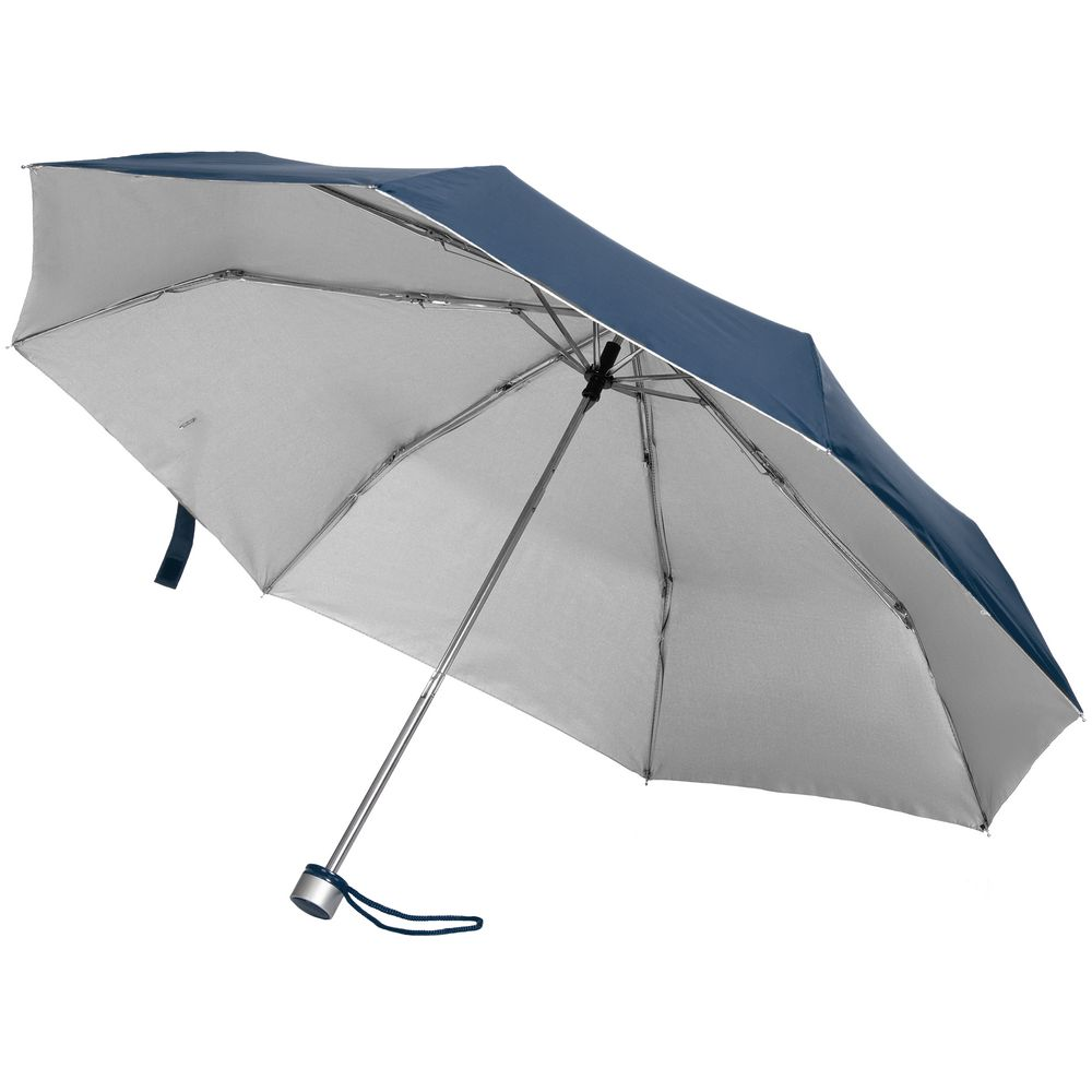 Зонт складной Silverlake, синий с серебристым