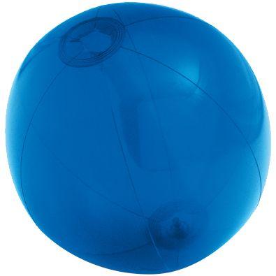 Надувной пляжный мяч Sun and Fun, полупрозрачный синий