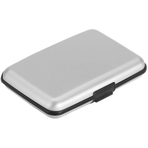 Футляр для визиток и пластиковых карт Cardi, серебристый