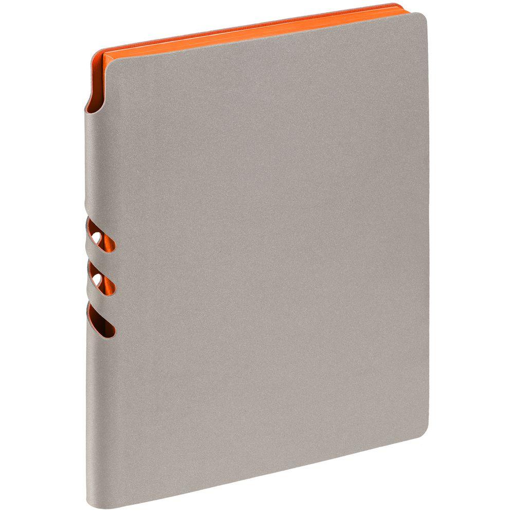 Ежедневник Flexpen, недатированный, серебристо-оранжевый
