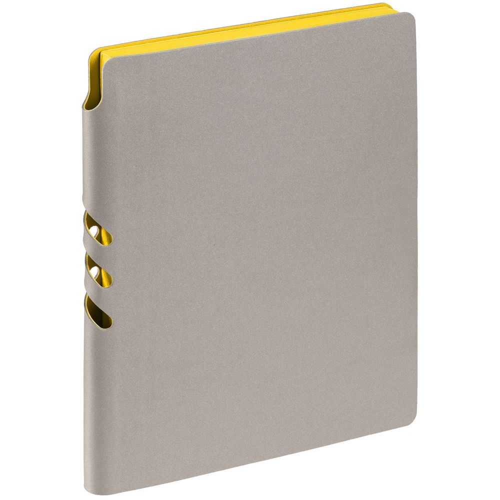 Ежедневник Flexpen, недатированный, серебристо-желтый