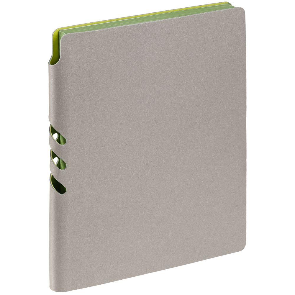 Ежедневник Flexpen, недатированный, серебристо-зеленый
