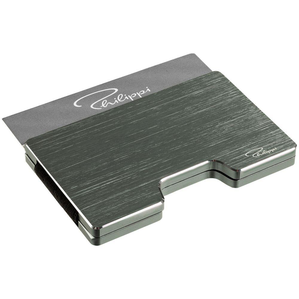 Футляр для карт с зажимом для купюр Cooper, серый