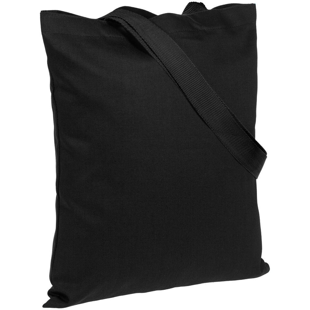 Холщовая сумка BrighTone, черная с черными ручками