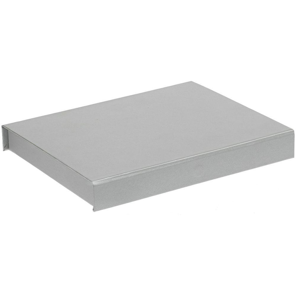 Коробка Doc под блокнот, аккумулятор и ручку, серебристая