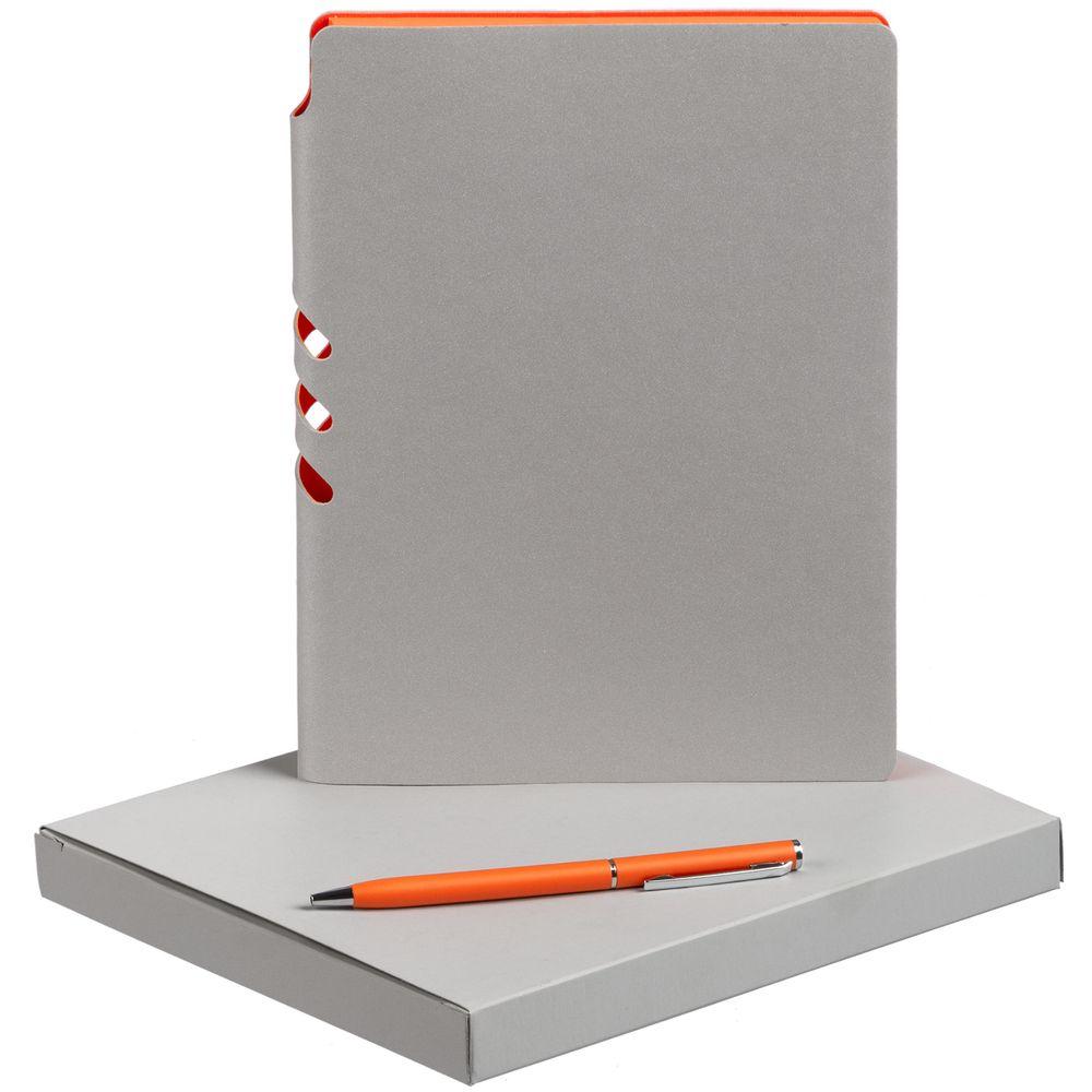 Набор Flexpen, серебристо-оранжевый