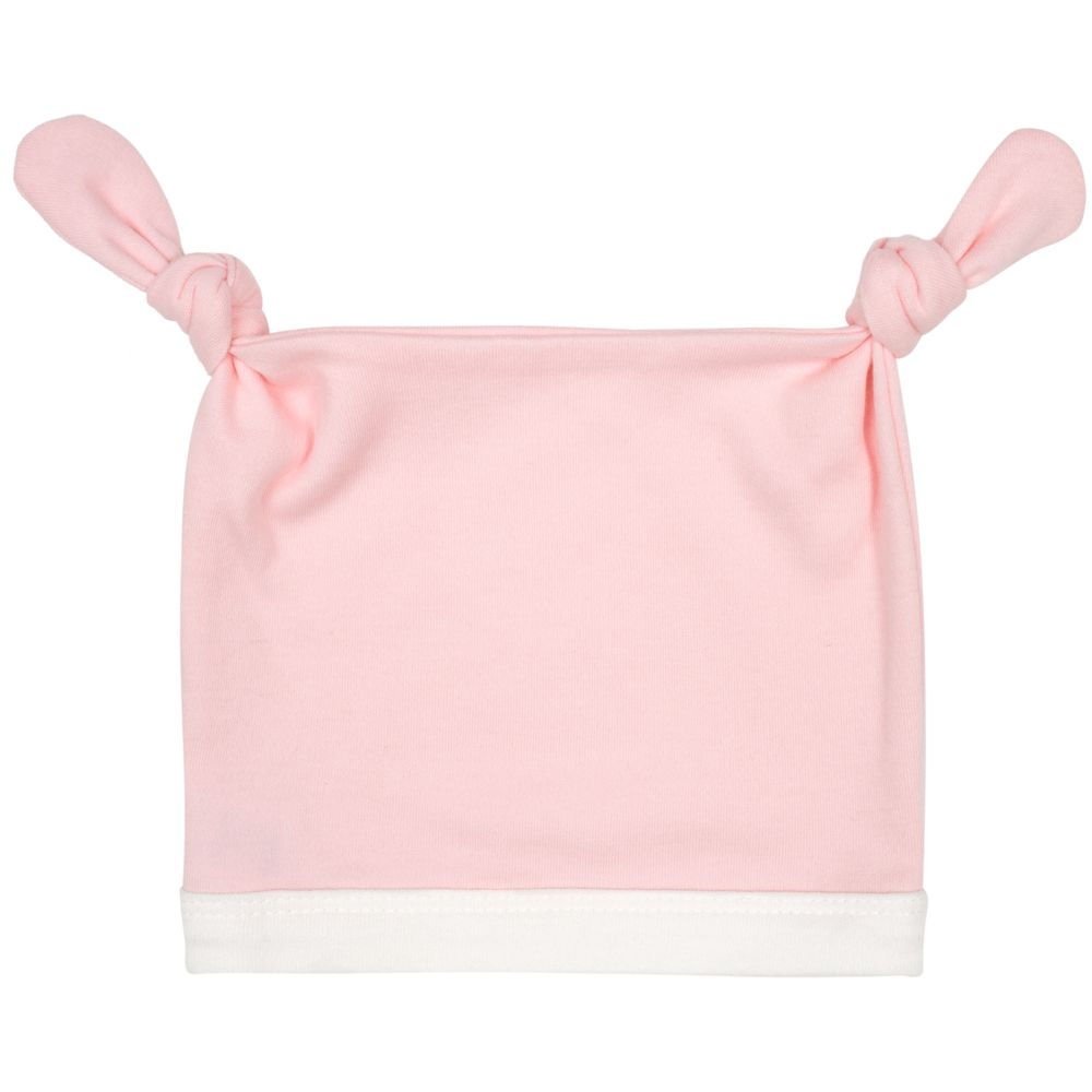 Шапочка детская Baby Prime, розовая с молочно-белым