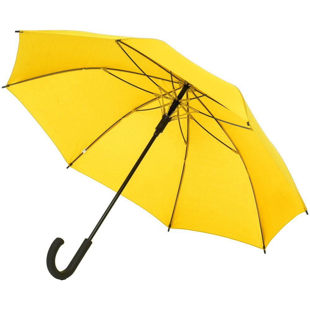 Зонт-трость с цветными спицами Bespoke, желтый