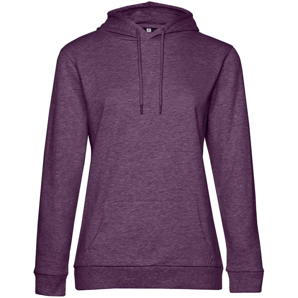 Толстовка с капюшоном женская Hoodie, фиолетовый меланж