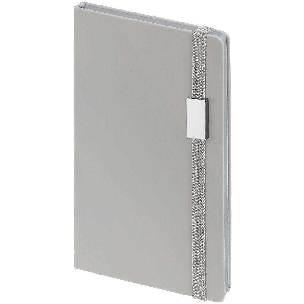 Блокнот Shall Direct, серый