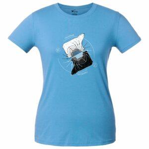 Футболка женская «Полярные медведи», голубая