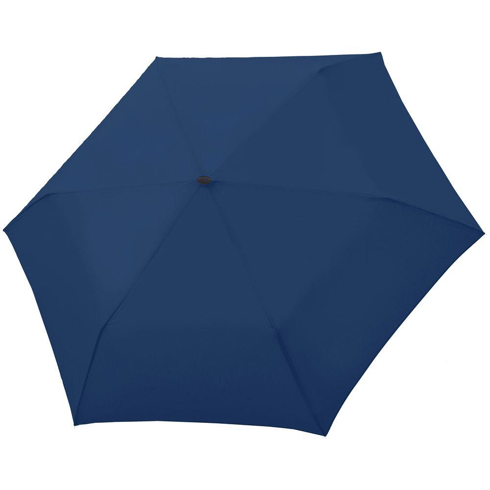 Зонт складной Carbonsteel Slim, темно-синий