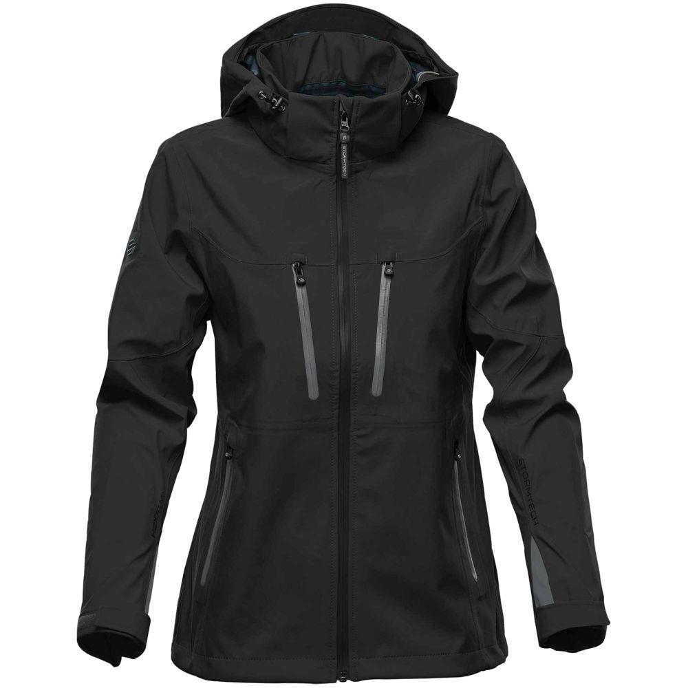 Куртка софтшелл женская Patrol, черная с серым