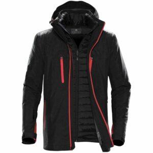 Куртка-трансформер мужская Matrix, черная с красным