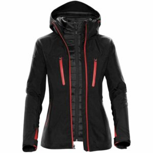 Куртка-трансформер женская Matrix, черная с красным