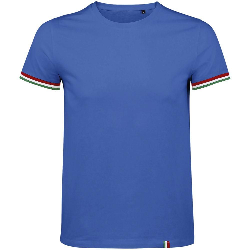 Футболка мужская Rainbow Men, ярко-синяя с ярко-зеленым