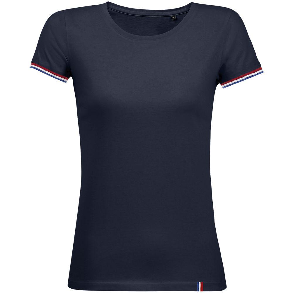 Футболка женская Rainbow Women, темно-синяя с ярко-синим