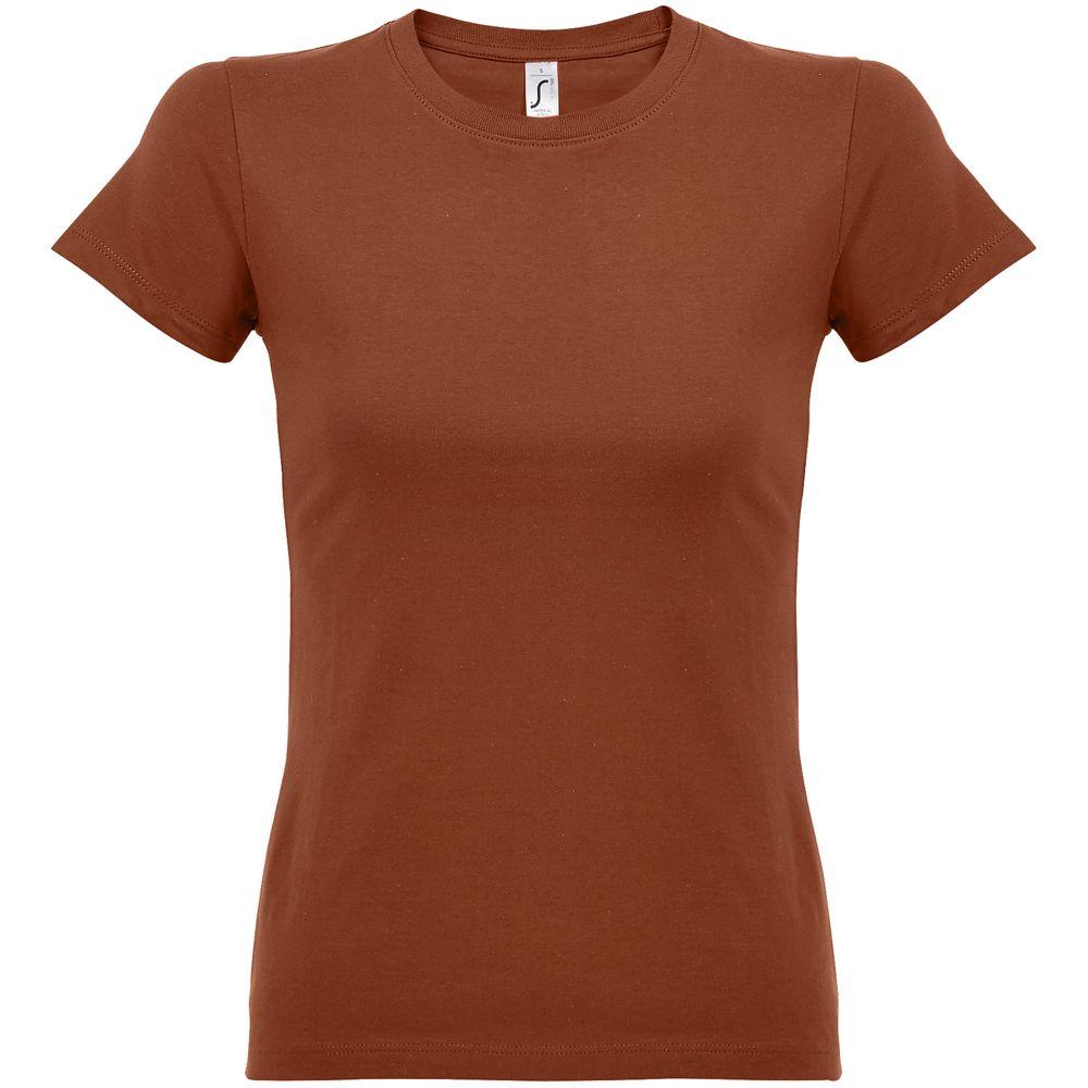 Футболка женская Imperial Women 190, коричневая (терракотовая)
