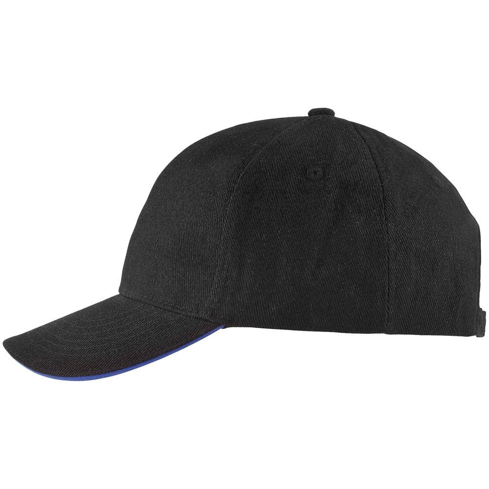 Бейсболка BUFFALO, черная с ярко-синим