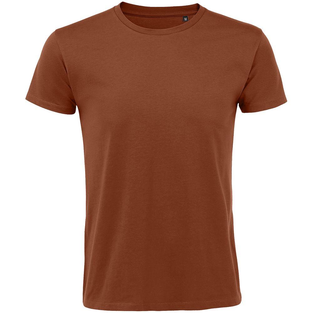 Футболка мужская приталенная REGENT FIT 150, коричневая (терракотовая)
