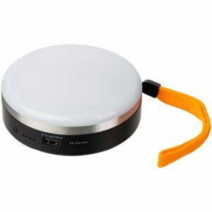 Фонарь с функцией аккумулятора Obero, белый с черным