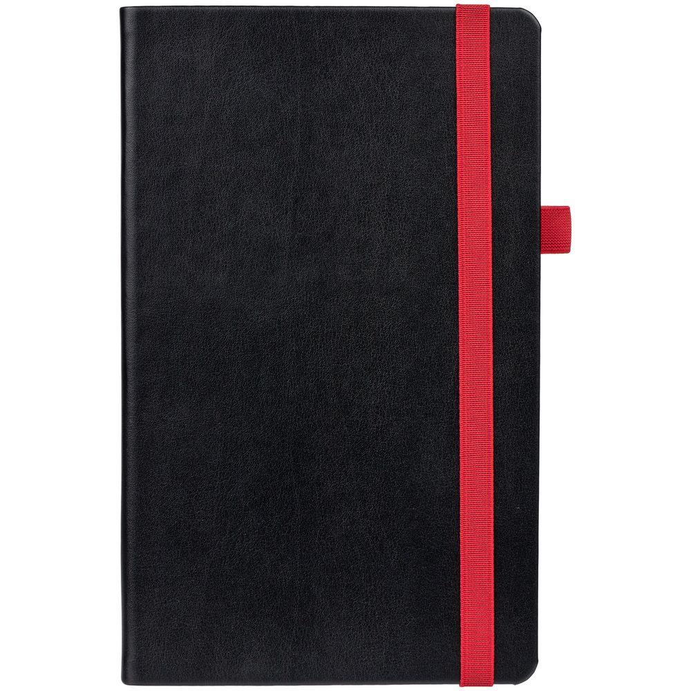 Ежедневник Ton недатированный, черный с красным