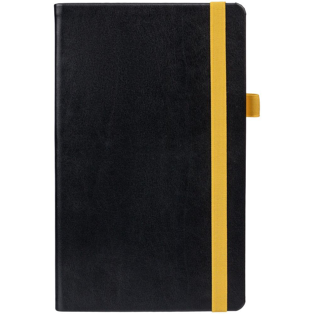 Ежедневник Ton недатированный, черный с желтым