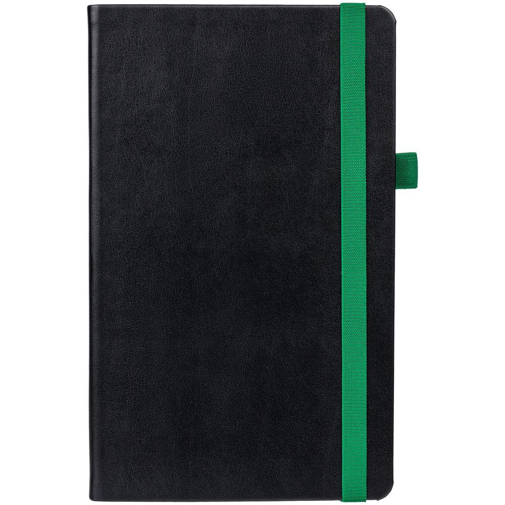 Ежедневник Ton недатированный, черный с зеленым
