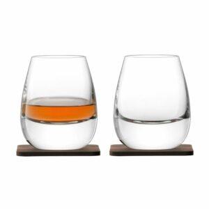 Набор стаканов Islay Whisky с деревянными подставками