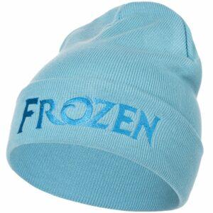 Шапка детская с вышивкой Frozen, голубая
