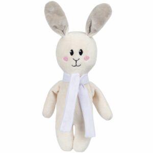 Игрушка Beastie Toys, заяц с белым шарфом