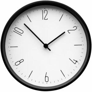 Часы настенные Lander, белые с черным