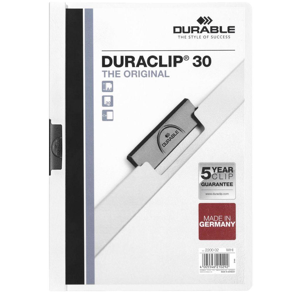 Папка Duraclip Original, белая
