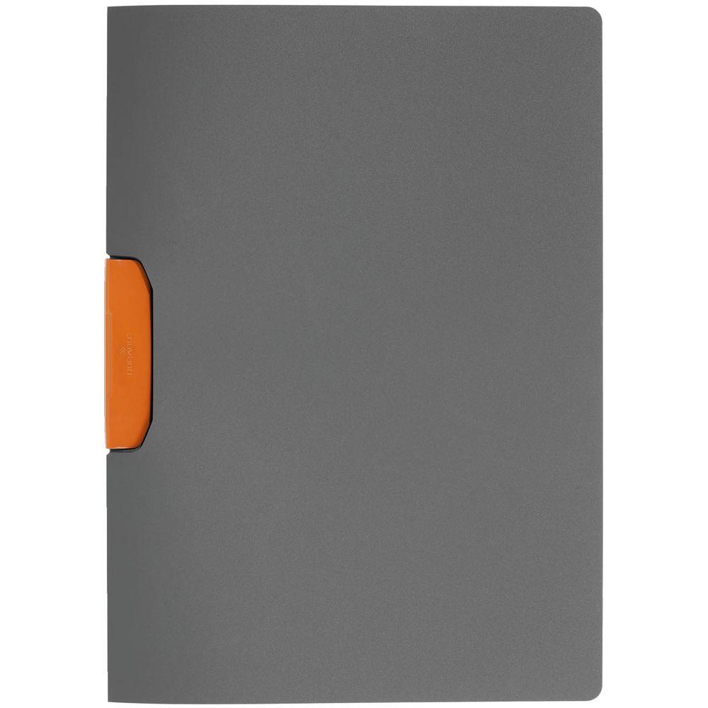 Папка Duraswing Color, серая с оранжевым клипом