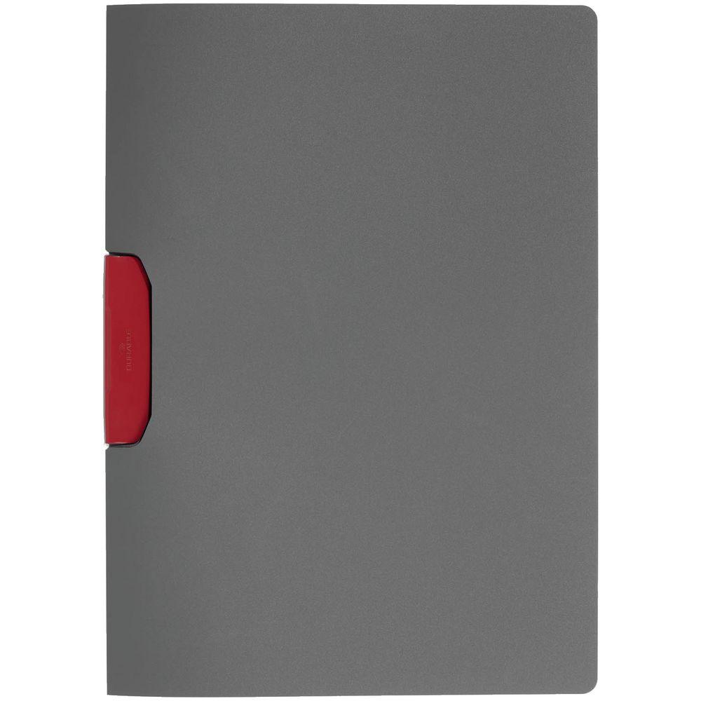 Папка Duraswing Color, серая с красным клипом