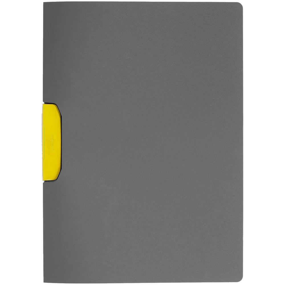 Папка Duraswing Color, серая с желтым клипом