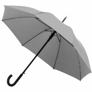 Зонт-трость Manifest со светоотражающим куполом, серый