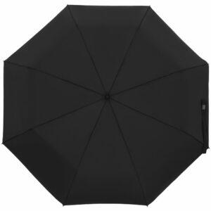 Зонт складной Show Up со светоотражающим куполом, черный