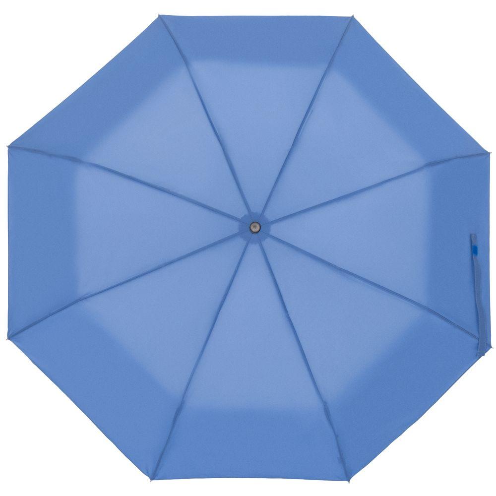 Зонт складной Show Up со светоотражающим куполом, синий