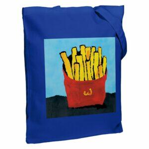 Холщовая сумка «Фри», ярко-синяя