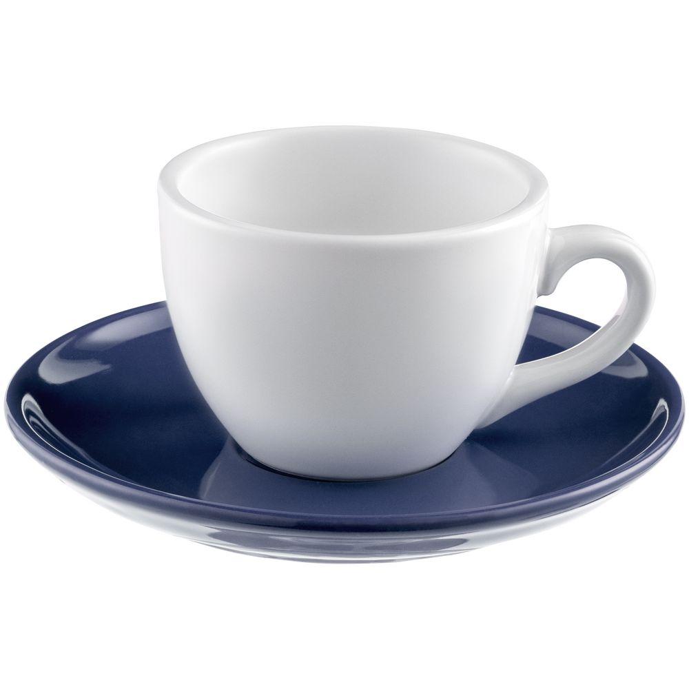 Чайная пара Cozy Morning, белая с синим